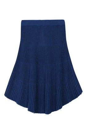 Детская плиссированная юбка TWINSET синего цвета, арт. 192GJ3011/6A-10A | Фото 2