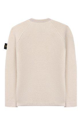 Детский шерстяной пуловер STONE ISLAND бежевого цвета, арт. 7116512D2/6-8 | Фото 2