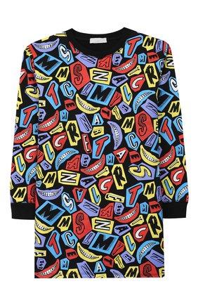 Детское хлопковое платье STELLA MCCARTNEY разноцветного цвета, арт. 566253/SNJE1 | Фото 1