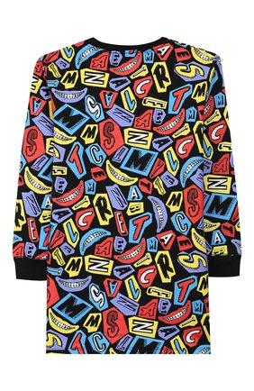 Детское хлопковое платье STELLA MCCARTNEY разноцветного цвета, арт. 566253/SNJE1 | Фото 2