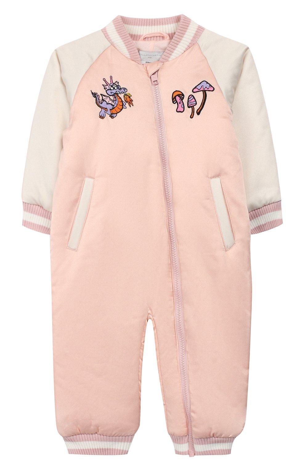 Детского комбинезон STELLA MCCARTNEY розового цвета, арт. 566406/SNK46 | Фото 1