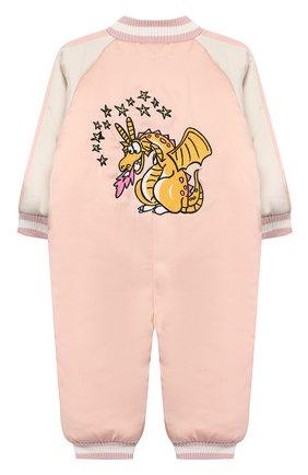 Детского комбинезон STELLA MCCARTNEY розового цвета, арт. 566406/SNK46 | Фото 2