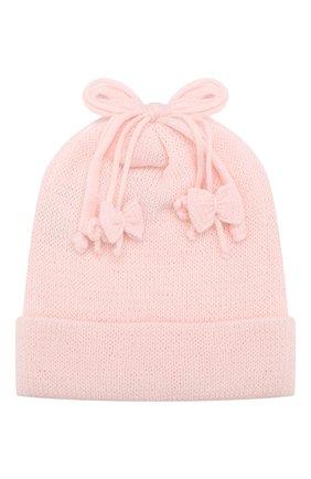 Детского шерстяная шапка ALETTA розового цвета, арт. CRB999823 | Фото 1