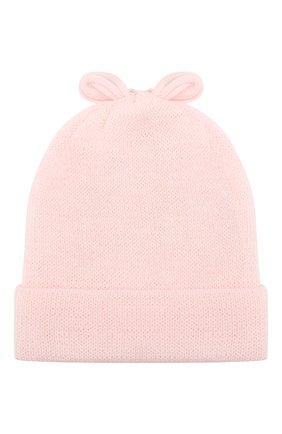 Детского шерстяная шапка ALETTA розового цвета, арт. CRB999823 | Фото 2