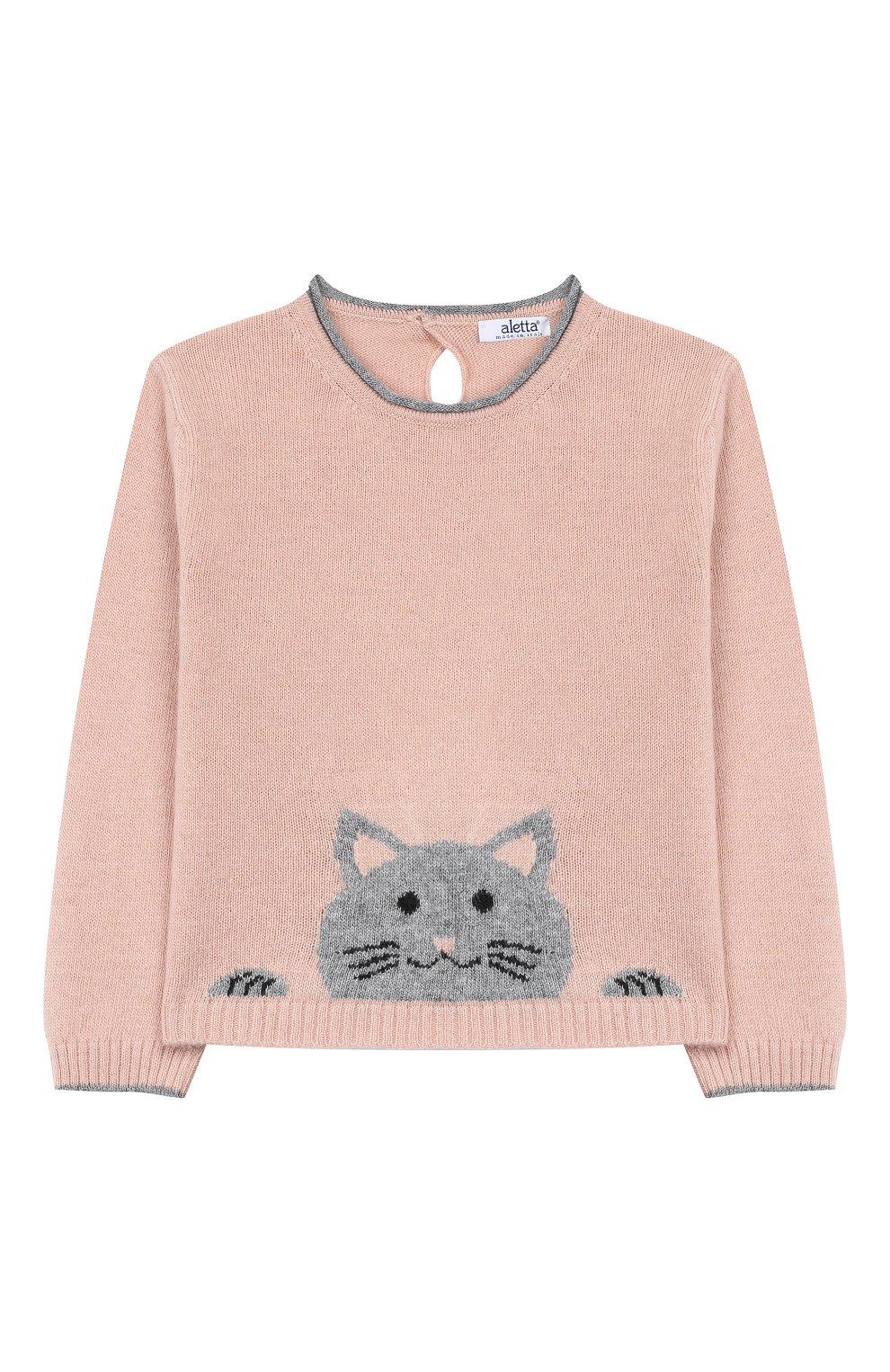 Детский пуловер ALETTA розового цвета, арт. MRW999954/1M-2A | Фото 1