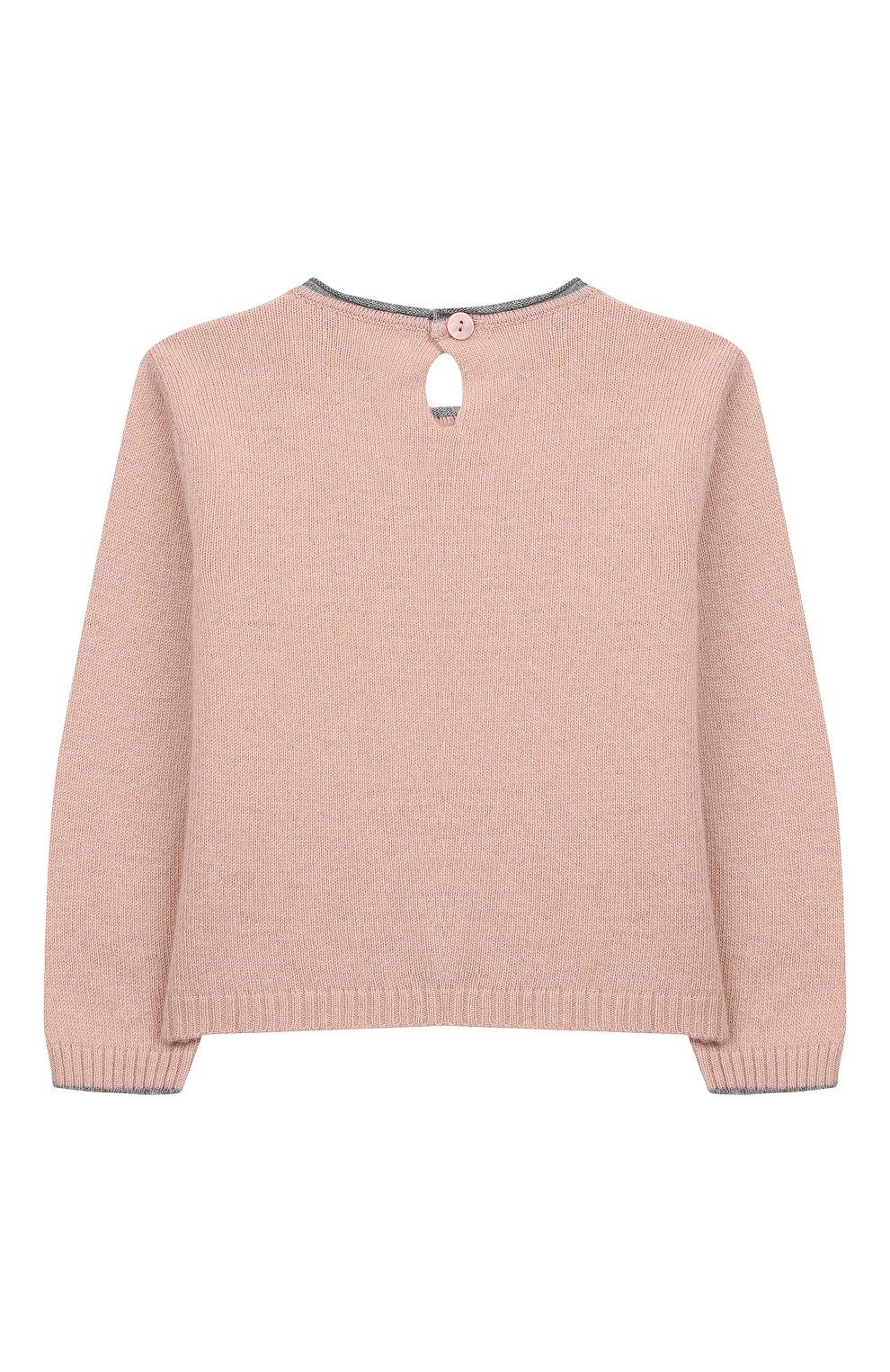 Детский пуловер ALETTA розового цвета, арт. MRW999954/1M-2A | Фото 2