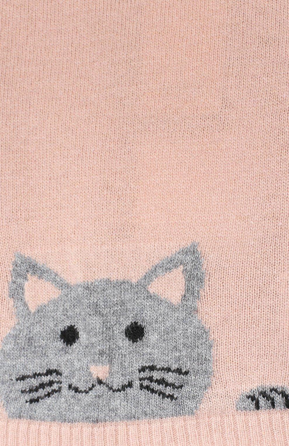 Детский пуловер ALETTA розового цвета, арт. MRW999954/1M-2A | Фото 3
