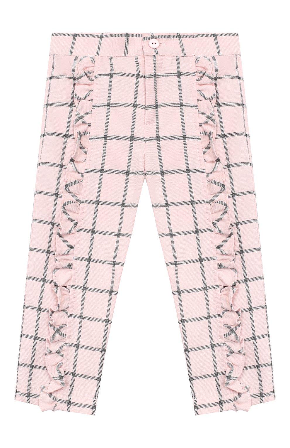 Детские хлопковые брюки ALETTA розового цвета, арт. RB999067/1M-2A   Фото 1