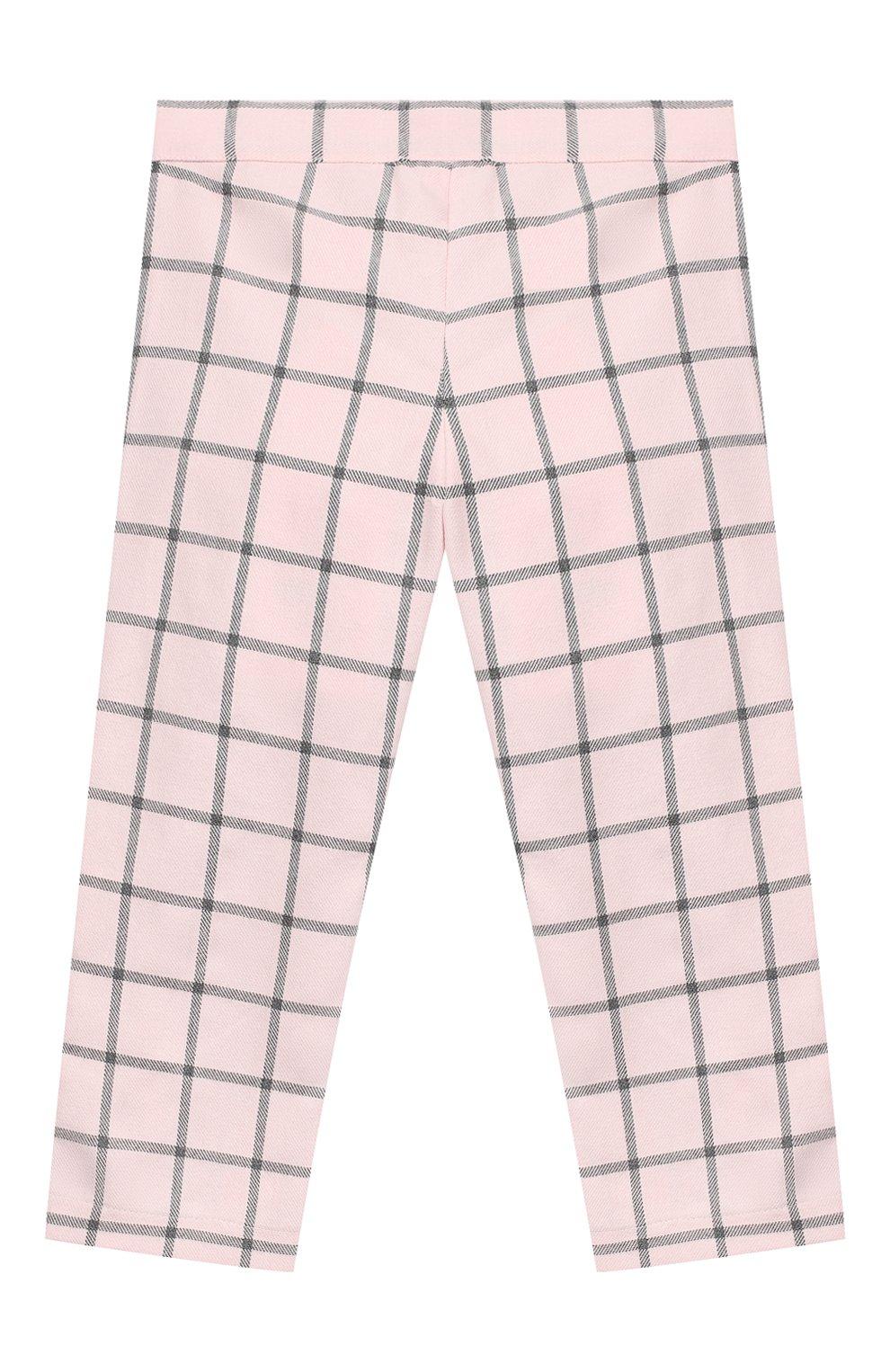 Детские хлопковые брюки ALETTA розового цвета, арт. RB999067/1M-2A   Фото 2