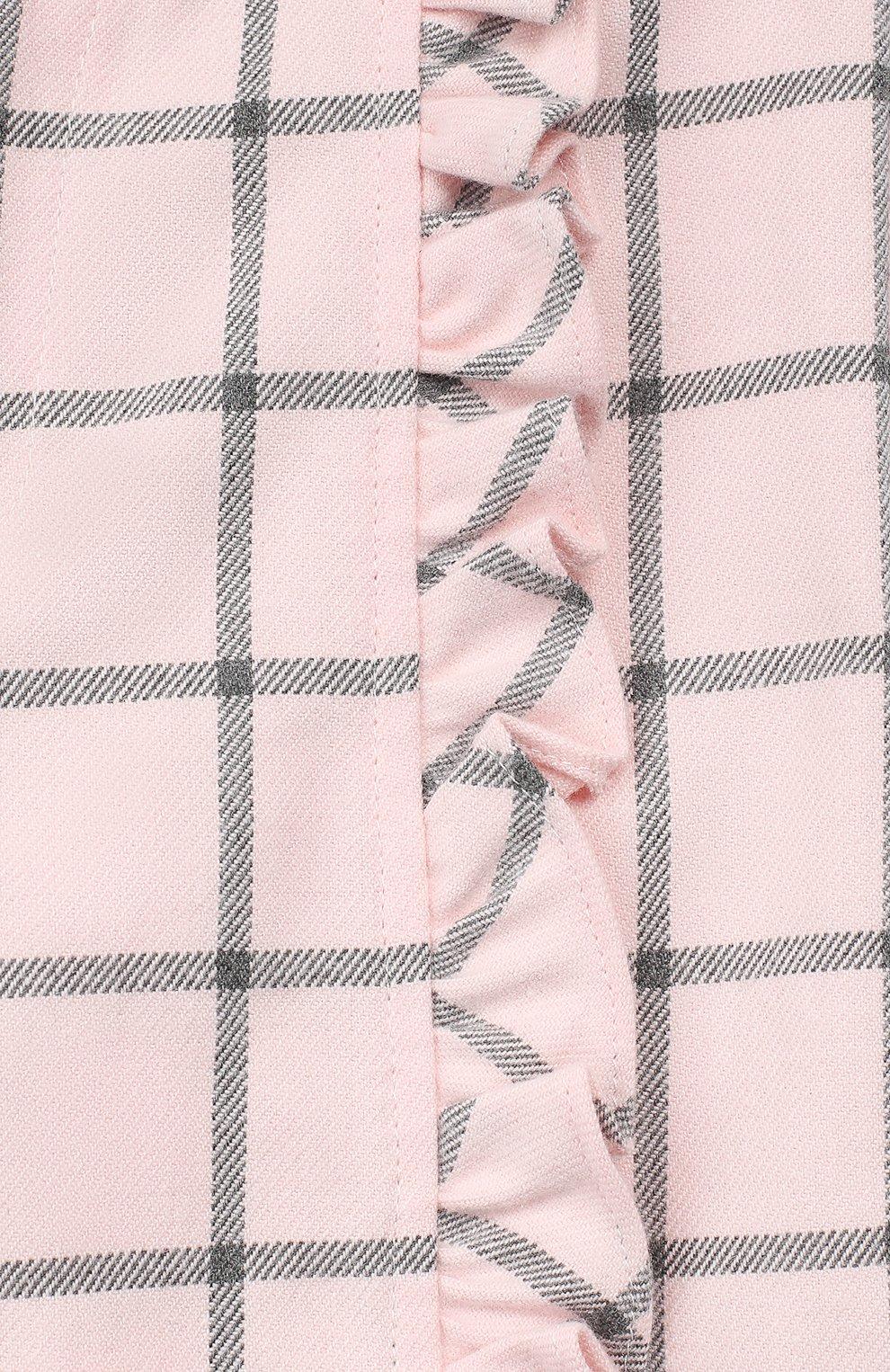 Детские хлопковые брюки ALETTA розового цвета, арт. RB999067/1M-2A   Фото 3