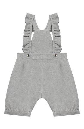 Детский хлопковый комбинезон ALETTA серого цвета, арт. RW999230/1M-2A | Фото 1