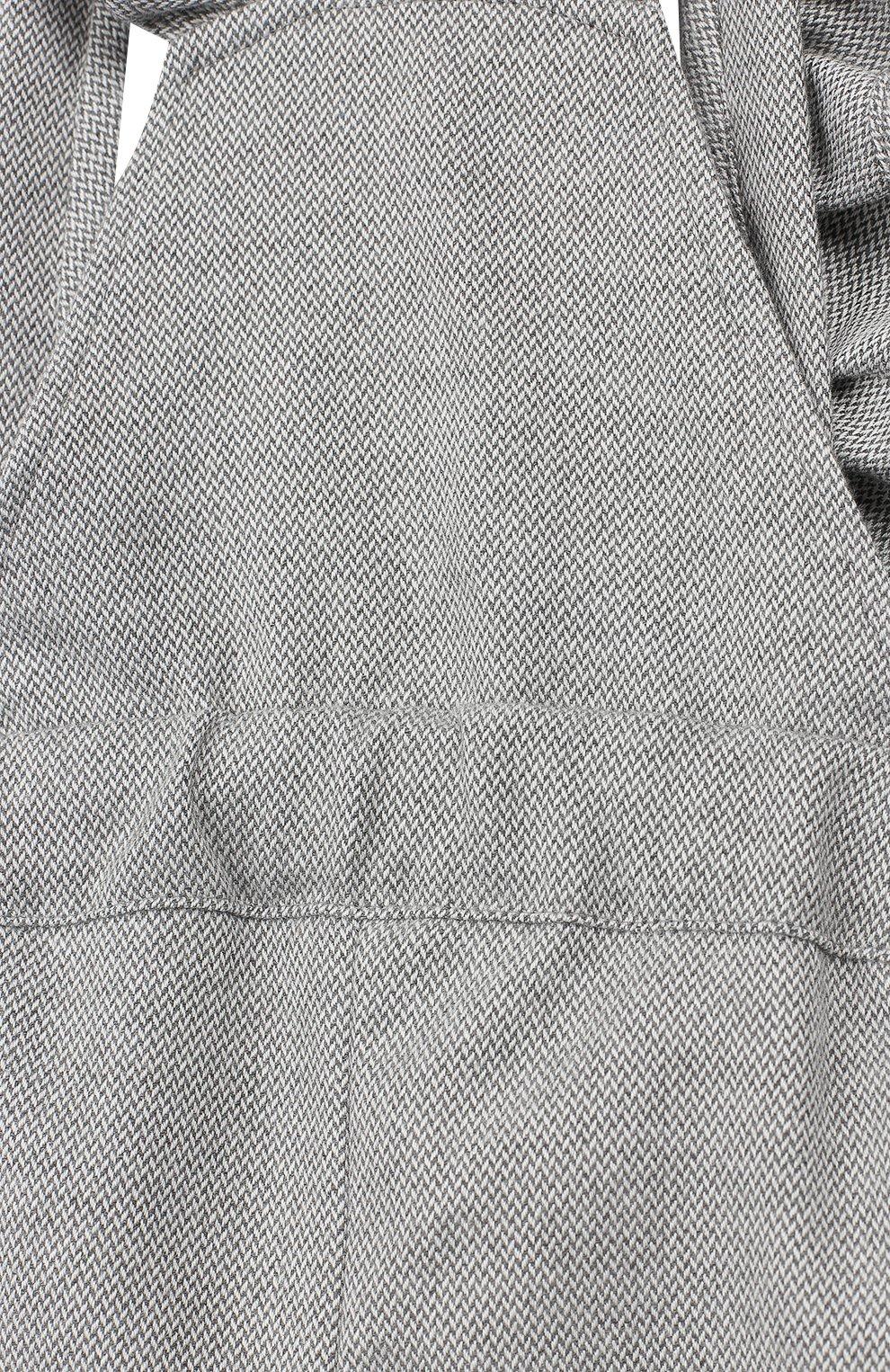 Детский хлопковый комбинезон ALETTA серого цвета, арт. RW999230/1M-2A | Фото 3