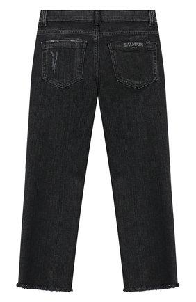 Детские джинсы BALMAIN серого цвета, арт. 6L6051/LA700/12-16 | Фото 2