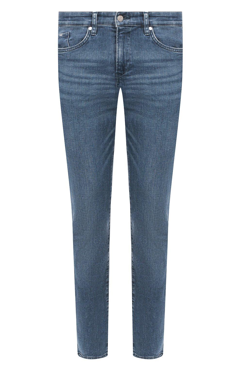 Мужские джинсы BOSS синего цвета, арт. 50416364 | Фото 1