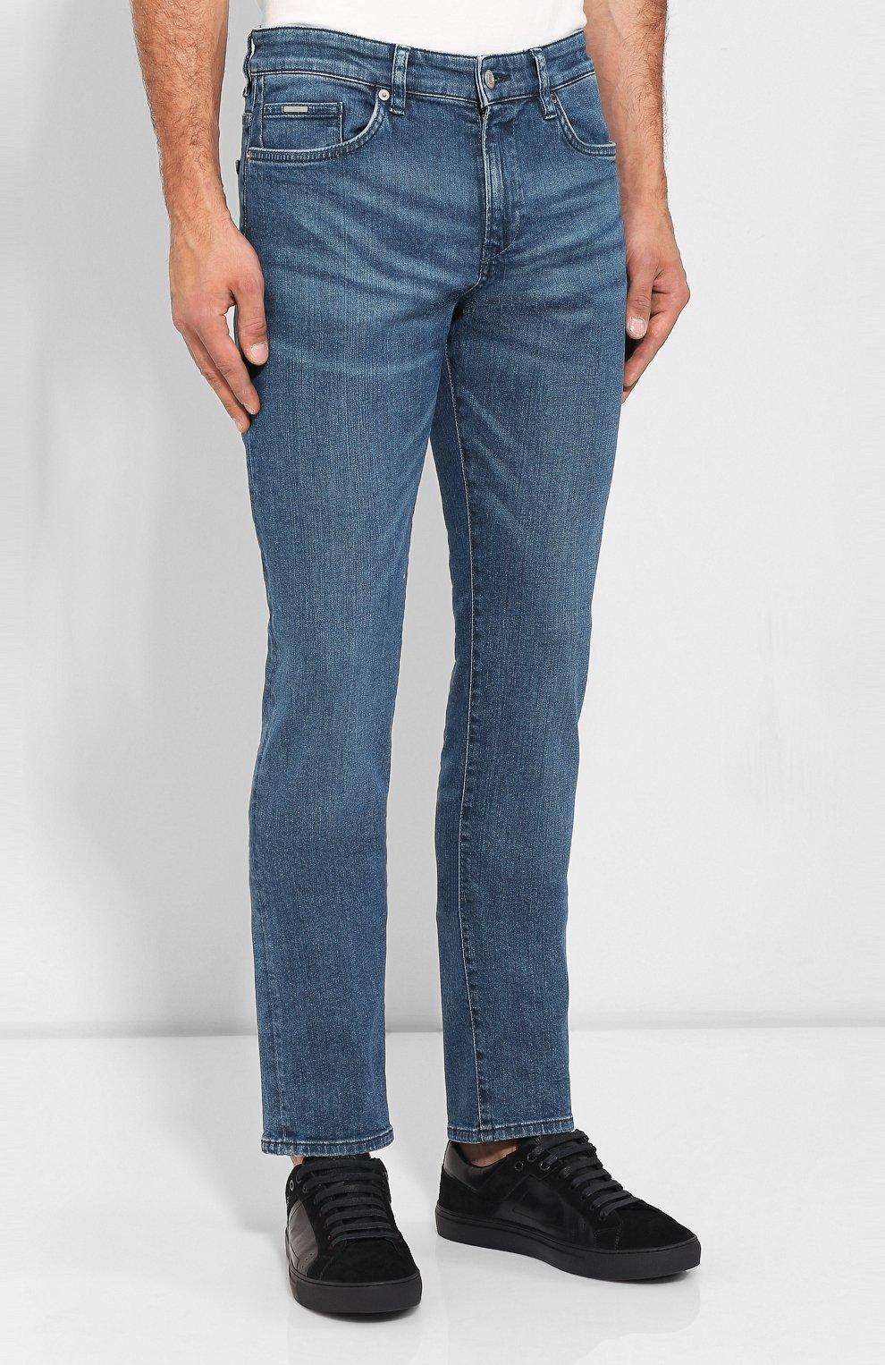 Мужские джинсы BOSS синего цвета, арт. 50416364 | Фото 3