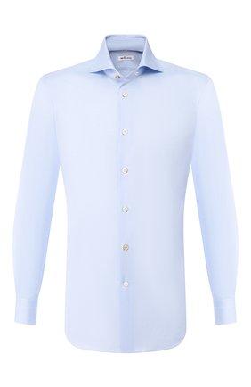 Мужская хлопковая сорочка KITON светло-голубого цвета, арт. UCIH000340200F | Фото 1