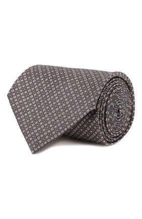 Мужской шелковый галстук BRIONI серого цвета, арт. 062H00/08464 | Фото 1