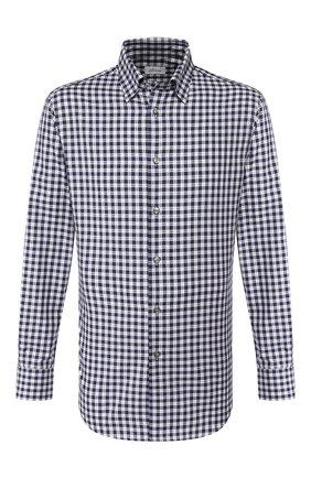 Мужская хлопковая рубашка BRIONI синего цвета, арт. SCCA0L/08021 | Фото 1