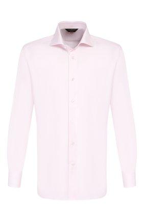 Мужская хлопковая сорочка ZEGNA COUTURE светло-розового цвета, арт. 402302/9NS0LB | Фото 1
