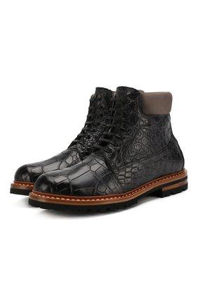 Ботинки из кожи крокодила | Фото №1