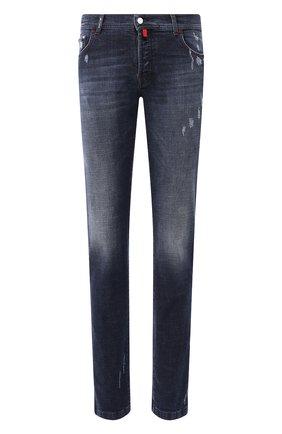 Мужские джинсы KITON синего цвета, арт. UPNJS/J03S85 | Фото 1