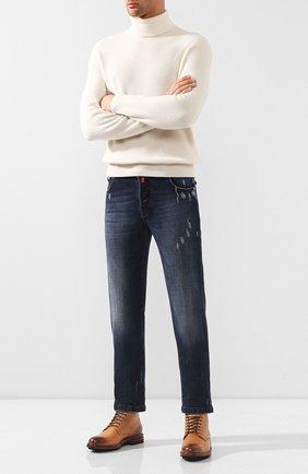 Мужские джинсы KITON синего цвета, арт. UPNJS/J03S85 | Фото 2