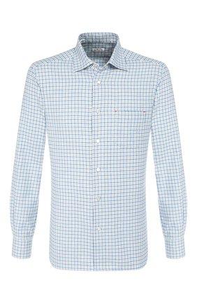 Мужская хлопковая рубашка KITON голубого цвета, арт. UMCNERCH0707911   Фото 1