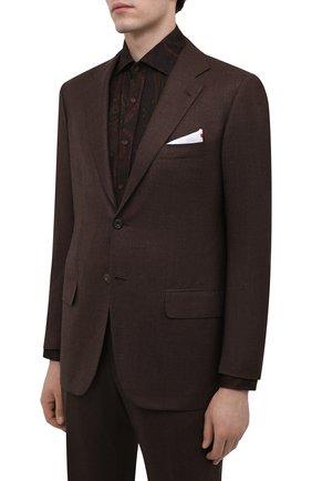 Мужской шерстяной костюм KITON коричневого цвета, арт. UA81K01X39   Фото 2