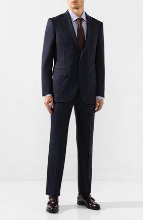 Мужская хлопковая сорочка PAL ZILERI синего цвета, арт. P370G45----B0272 | Фото 2