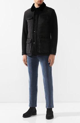 Мужские джинсы KITON синего цвета, арт. UFPPTM/J03S94 | Фото 2