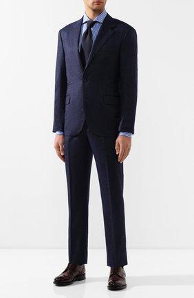 Мужская хлопковая сорочка KITON голубого цвета, арт. UCCH0709412 | Фото 2