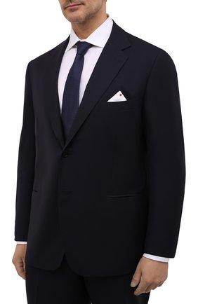 Мужской шерстяной костюм KITON темно-синего цвета, арт. UA81K09828 | Фото 2