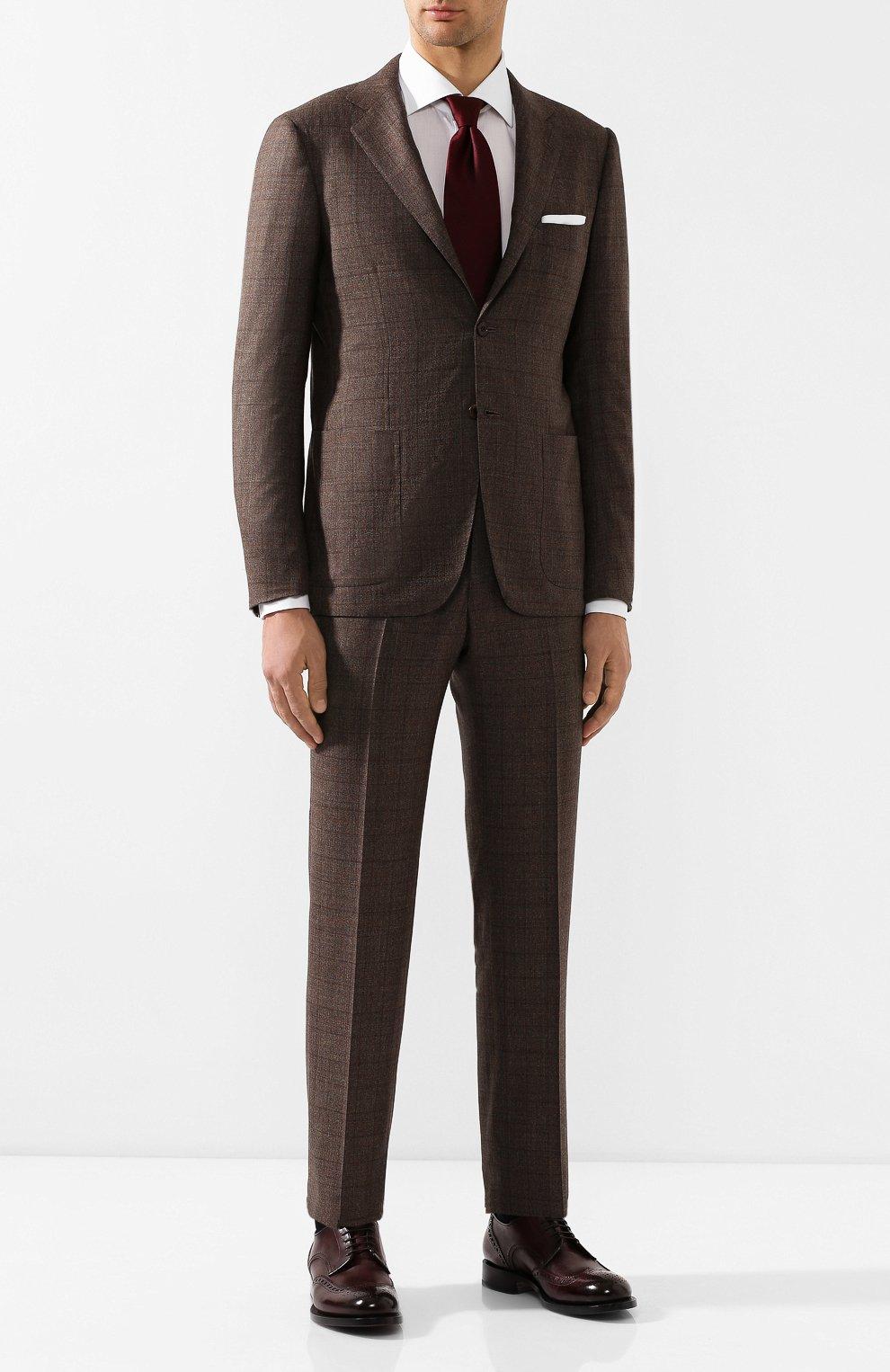 Коричневый шерстяной костюм мужской где купить авто ткань