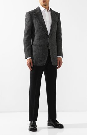 Мужской шерстяной пиджак TOM FORD серого цвета, арт. 638R02/15ME40 | Фото 2