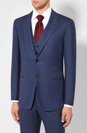 Мужской шерстяной костюм-тройка KITON синего цвета, арт. UAGL81K01X39 | Фото 2