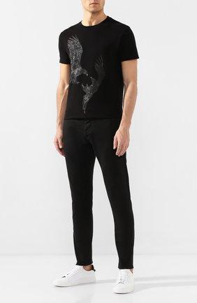 Мужская хлопковая футболка RH45 черного цвета, арт. 27HS24 | Фото 2 (Мужское Кросс-КТ: Футболка-одежда; Материал внешний: Хлопок; Статус проверки: Проверено; Рукава: Короткие; Длина (для топов): Стандартные; Стили: Панк)