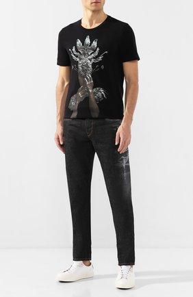 Мужская хлопковая футболка RH45 черного цвета, арт. 27HS27-I | Фото 2