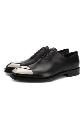 Мужские кожаные оксфорды BERLUTI черного цвета, арт. S4955-001 | Фото 1