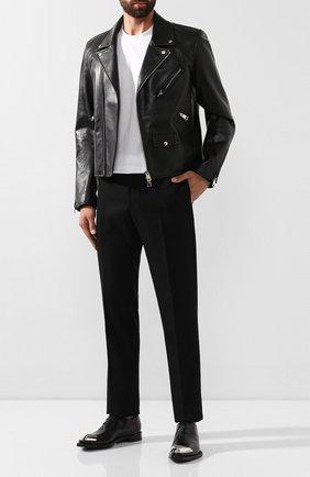Мужские кожаные оксфорды BERLUTI черного цвета, арт. S4955-001 | Фото 2