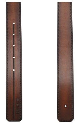 Мужской кожаный ремень BERLUTI коричневого цвета, арт. CS002-004 | Фото 2