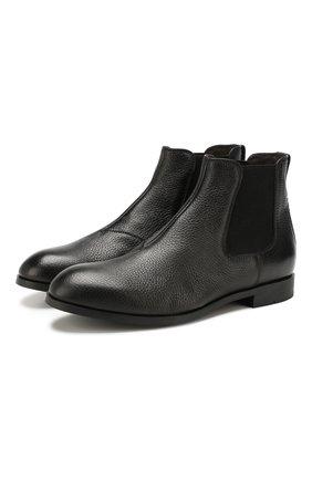 Мужские кожаные челси ERMENEGILDO ZEGNA черного цвета, арт. A4277X-LHCV0 | Фото 1