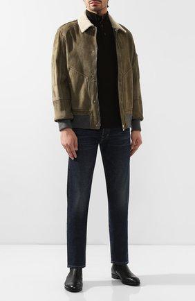 Мужские кожаные челси ERMENEGILDO ZEGNA черного цвета, арт. A4277X-LHCV0 | Фото 2