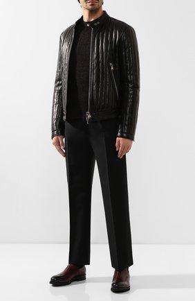 Мужские кожаные челси ERMENEGILDO ZEGNA бордового цвета, арт. A4264X-LHCIA | Фото 2