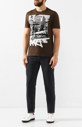 Мужская хлопковая футболка Z ZEGNA хаки цвета, арт. VT372/ZZ630L | Фото 2