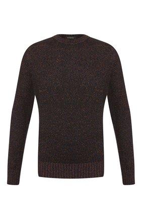 Мужской свитер из смеси кашемира и шелка ERMENEGILDO ZEGNA оранжевого цвета, арт. UTJ50/110 | Фото 1