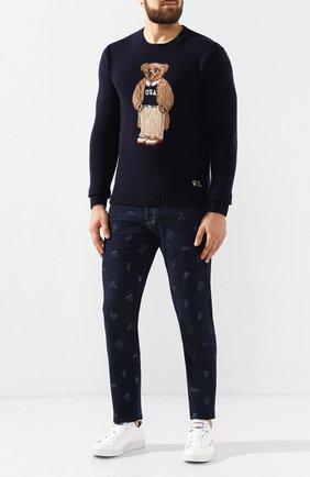 Мужской шерстяной свитер POLO RALPH LAUREN темно-синего цвета, арт. 710766111 | Фото 2