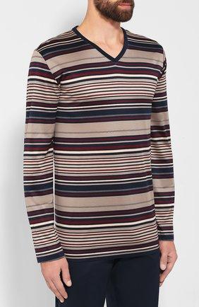 Мужская хлопковая пижама HANRO темно-синего цвета, арт. 075156 | Фото 2