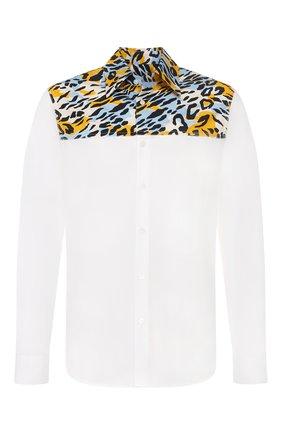 Мужская хлопковая рубашка MARNI белого цвета, арт. CUMU0118Q0/STN919   Фото 1