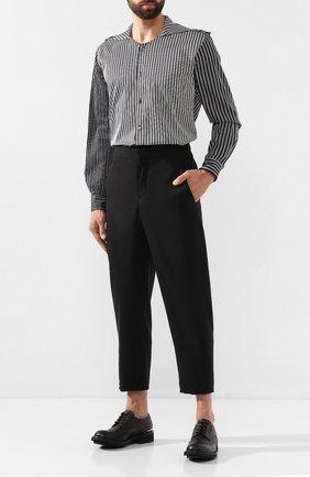 Мужской укороченные брюки NEIL BARRETT черного цвета, арт. BPA703/M050 | Фото 2