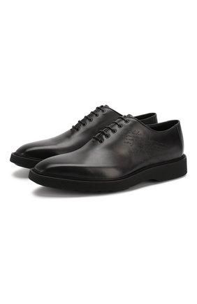 Мужские кожаные оксфорды BERLUTI черного цвета, арт. S4897-001 | Фото 1
